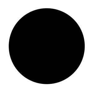 schwarzer Kreis als Symbol für Depression