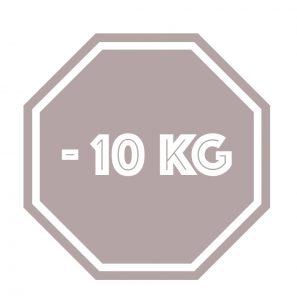 Stoppschild 10 kg Gewichtsabnahme