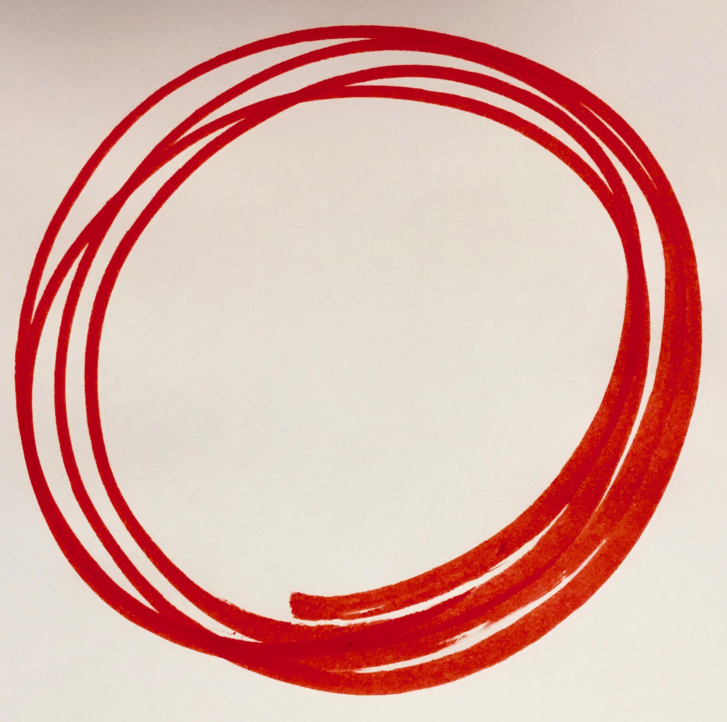 rote Kreise als Symbol für Hypnose München