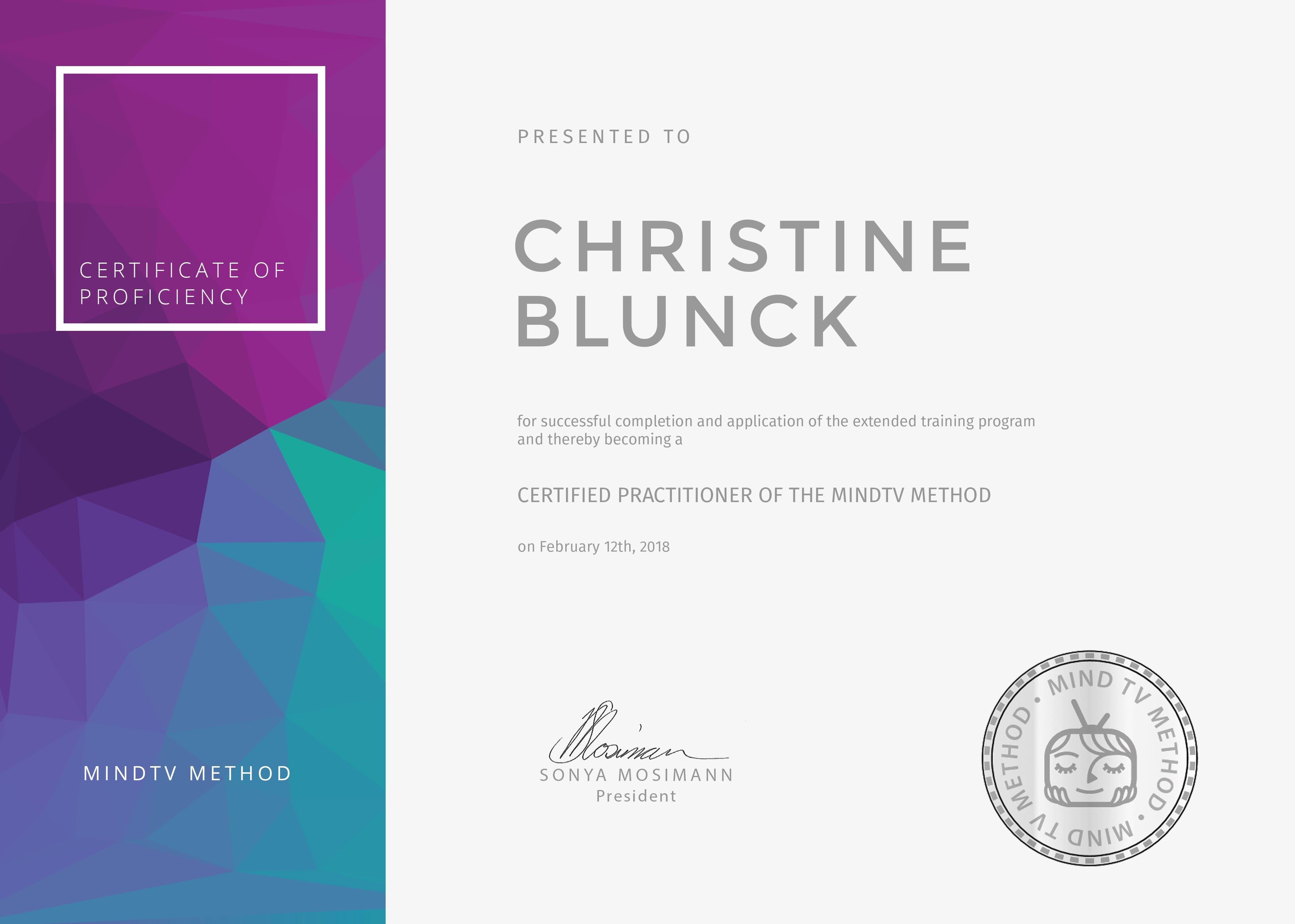 mindtv zertifikat christine blunck heilpraktikerin in m nchen. Black Bedroom Furniture Sets. Home Design Ideas